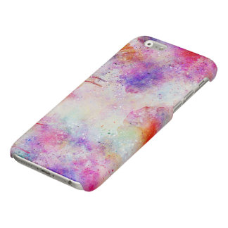 Watercolor Galaxy Purple Pattern Gloss iPhone Case