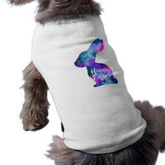 Watercolor Galaxy Rabbit Easter Dog Clothes
