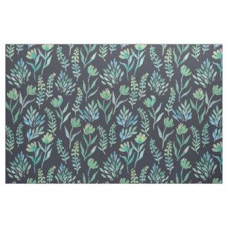 Watercolor Garden Fabric Navy