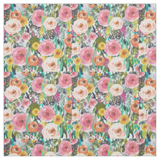 Watercolor Garden Floral Fabric
