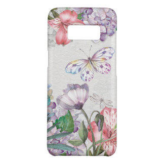 Watercolor Garden Flowers Butterfly Dragonfly Case-Mate Samsung Galaxy S8 Case