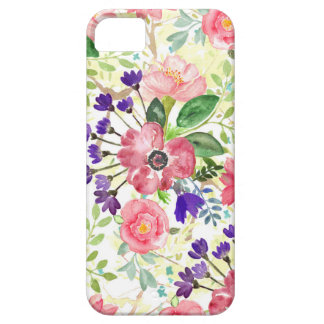 Watercolor garden flowers case for the iPhone 5