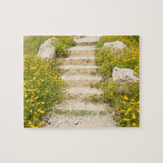 Watercolor garden jigsaw puzzle