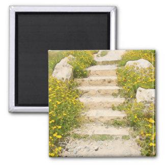 Watercolor garden magnet