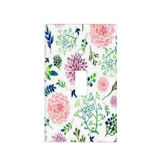 Watercolor Garden Nursery Light Switch Cover