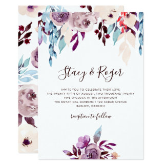 Watercolor Garden Wedding Card