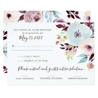 Watercolor Garden Wedding RSVP Card