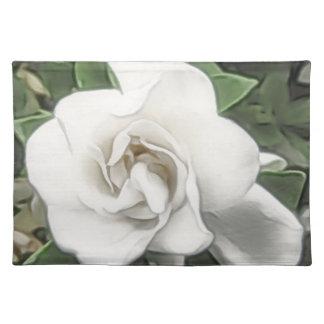 Watercolor Gardenia Placemat