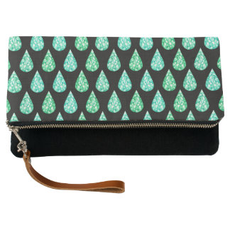 Watercolor gemstone clutch