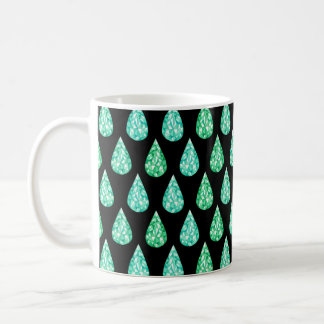 Watercolor gemstone coffee mug
