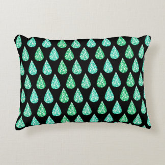 Watercolor gemstone decorative pillow