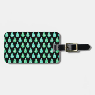 Watercolor gemstone luggage tag
