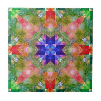Watercolor Geometric Pattern Ceramic Tile