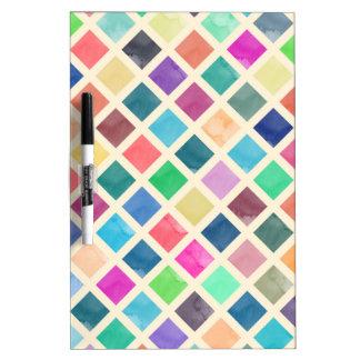 Watercolor geometric pattern dry erase board