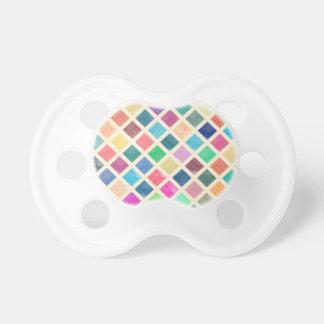 Watercolor geometric pattern pacifier