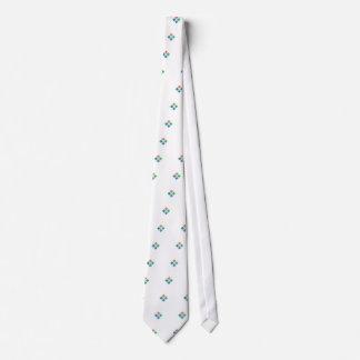 Watercolor geometric pattern tie