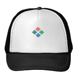 Watercolor geometric pattern trucker hat