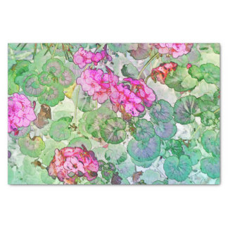 Watercolor Geraniums Tissue Paper