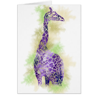 Watercolor Giraffe 1 Card