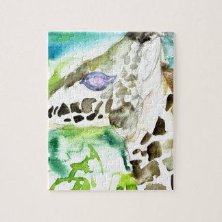 watercolor GIRAFFE .1 Jigsaw Puzzle