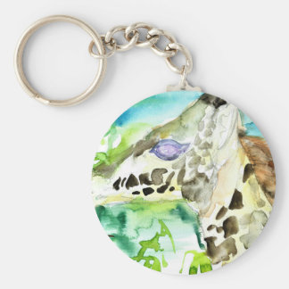watercolor GIRAFFE .1 Keychain
