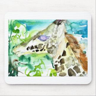watercolor GIRAFFE .1 Mouse Pad
