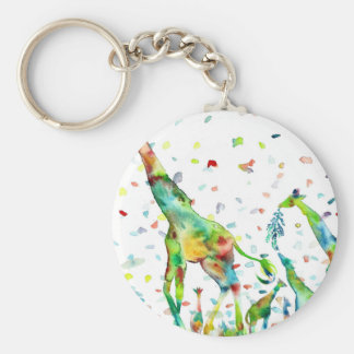 watercolor GIRAFFE .2 Keychain