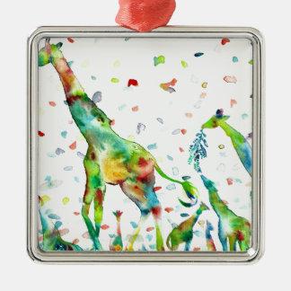 watercolor GIRAFFE .2 Metal Ornament