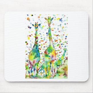 watercolor GIRAFFE .3 Mouse Pad