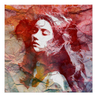 Watercolor Girl - Dare To Love Poster
