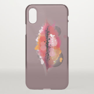 watercolor glamorous lips clear iPhone X case