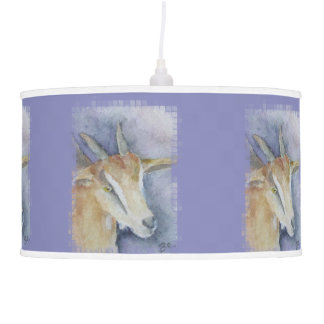Watercolor Goat/Kid Pendant Lamp