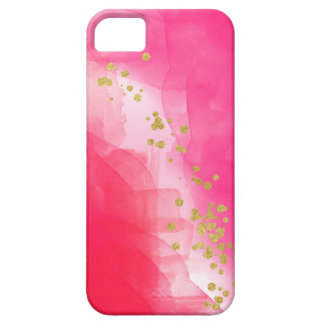 Watercolor Gold Confetti Red Pink iPhone Cover