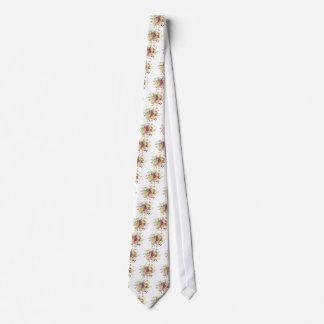 Watercolor gold plummy bouquet tie