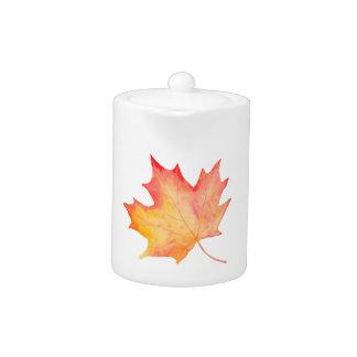 Watercolor Golden Maple Leaf