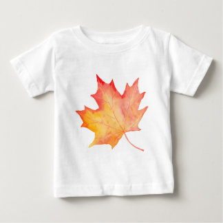 Watercolor Golden Maple Leaf Baby T-Shirt