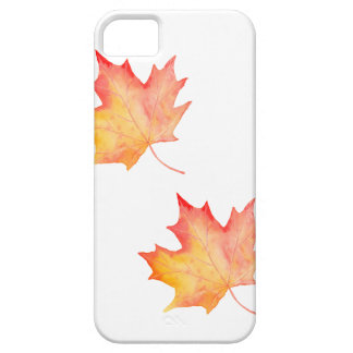 Watercolor Golden Maple Leaf iPhone 5 Cases