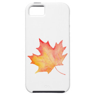 Watercolor Golden Maple Leaf iPhone 5 Covers