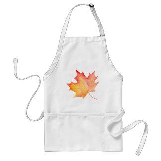 Watercolor Golden Maple Leaf Standard Apron