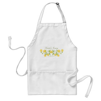 Watercolor Golden Yellow Blooms Aprons
