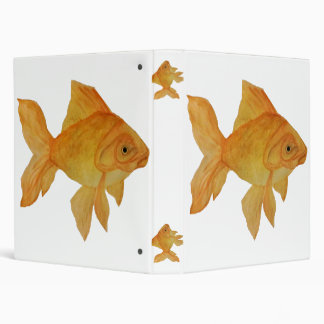 Watercolor Goldfish Binder