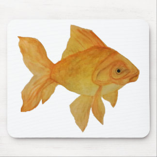 Watercolor Goldfish Mouse Pad