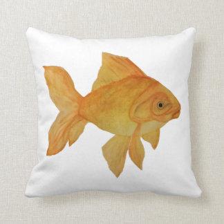 Watercolor Goldfish Throw Pillow