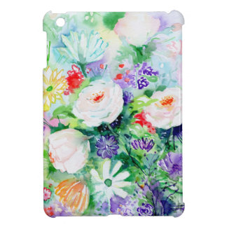 Watercolor Good Mood Flowers Cover For The iPad Mini