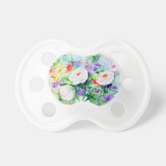 Watercolor Good Mood Flowers Pacifier