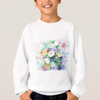 Watercolor Good Mood Flowers Sweatshirt