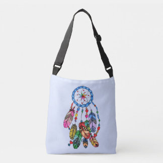 Watercolor gorgeous rainbow dream catcher crossbody bag