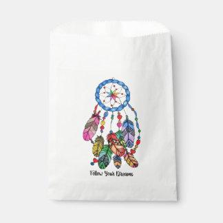 Watercolor gorgeous rainbow dream catcher favour bag