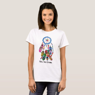 Watercolor gorgeous rainbow dream catcher T-Shirt