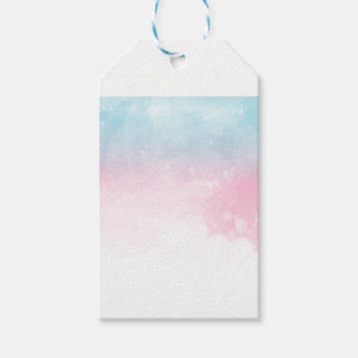 watercolor gradient ombre gift tags